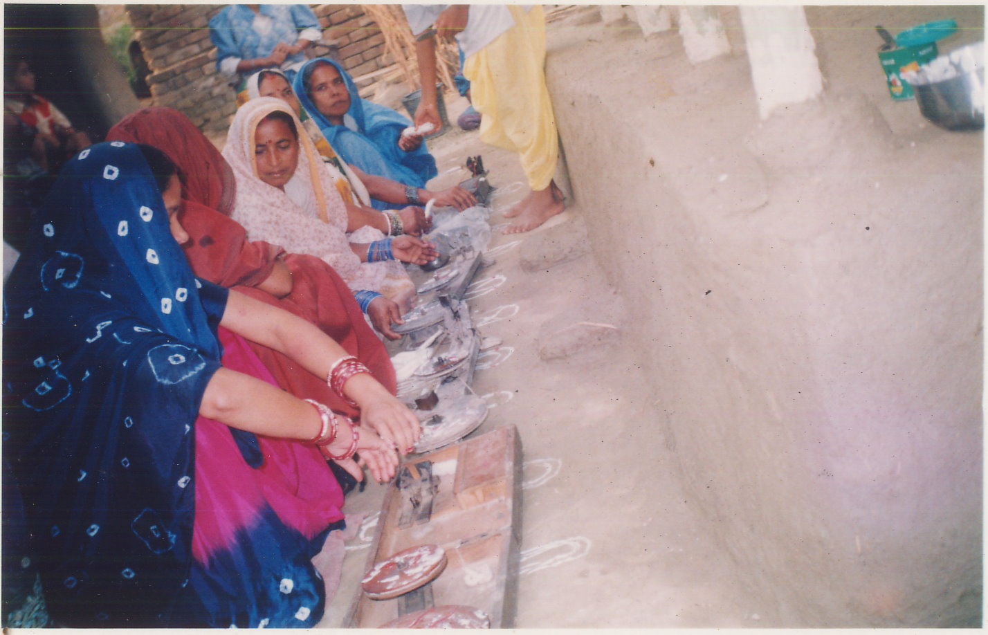 Cotton made on charkha